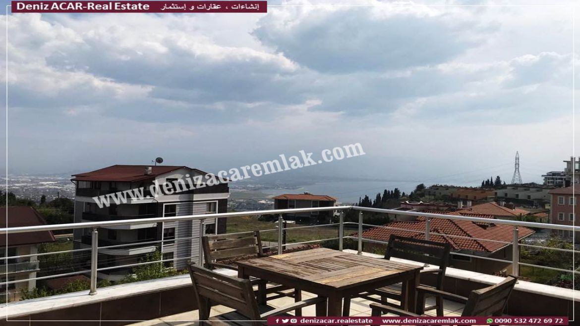 Kocaeli izmit TRIPLEX VILLA WITH SEA VIEW IN IZMIT Villa For Sale