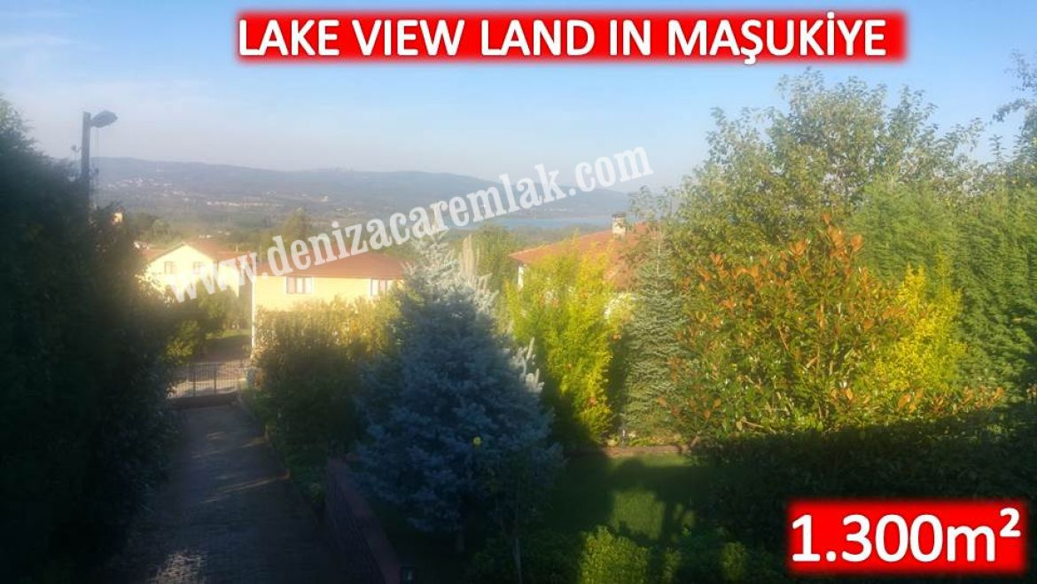 Kocaeli Kartepe Lake view in Maşukiye Land For Sale