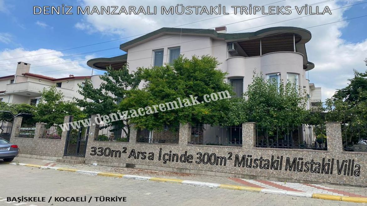 Kocaeli Başiskele DETACHED TRIPLEX VILLA WITH SEA VIEW Villa For Sale