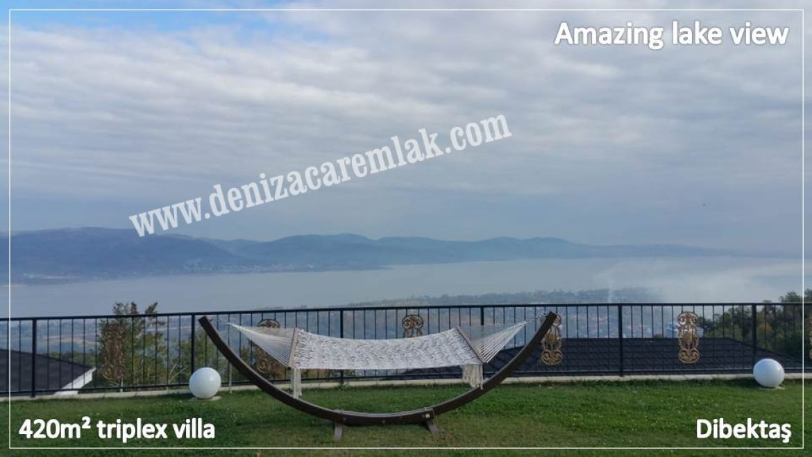 Sakarya Sapanca Amazing lake view Villa For Sale
